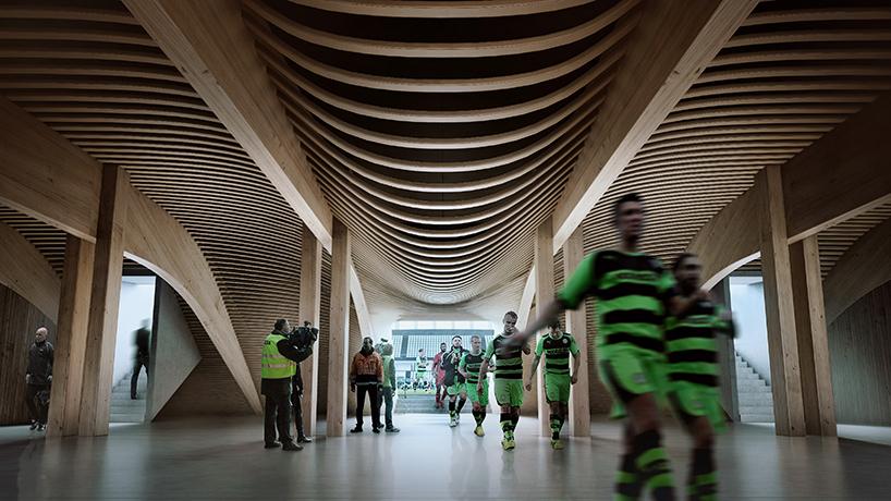 construction stade bois