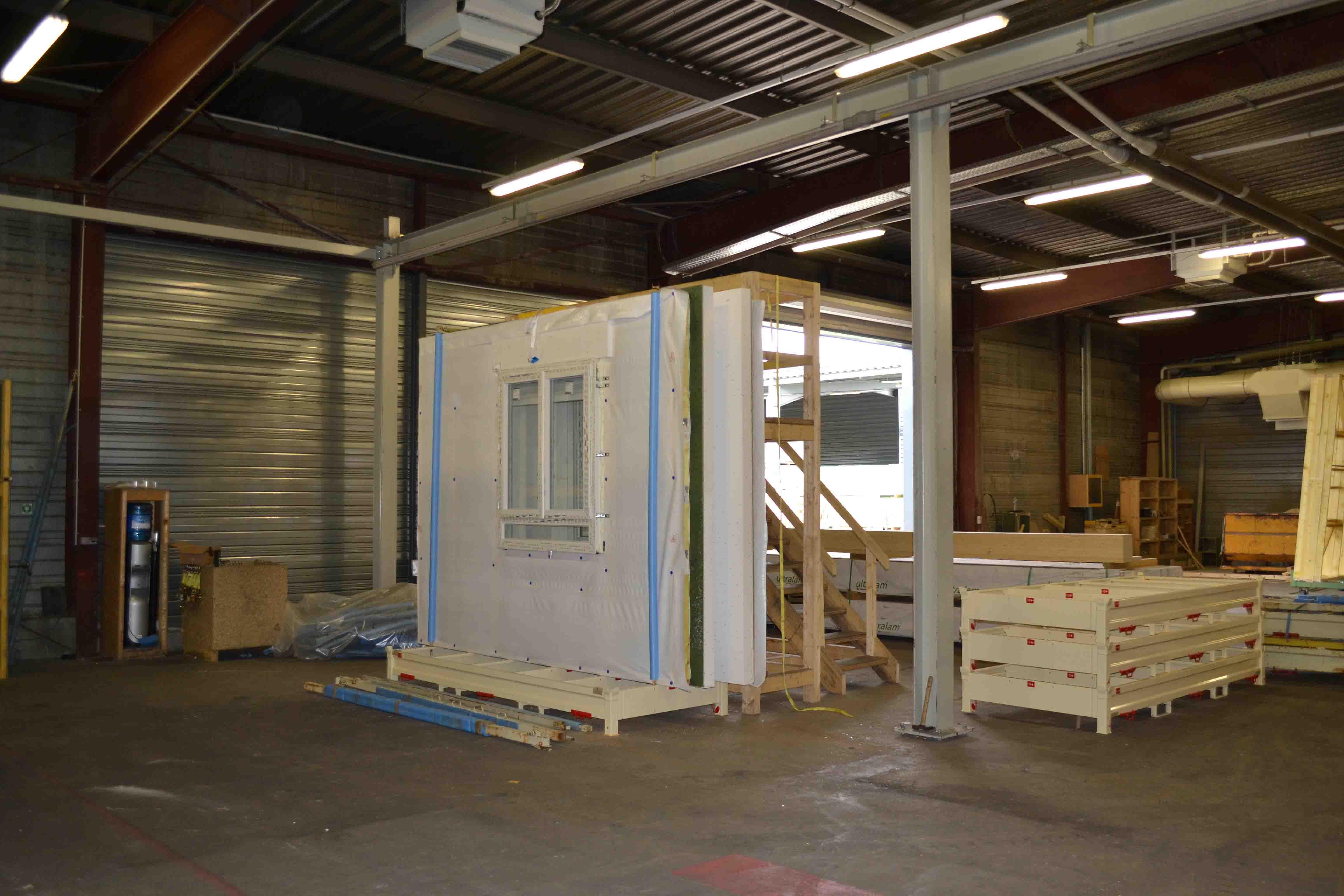 Processus de fabrication des ossature bois Natilia dans son usine POBI