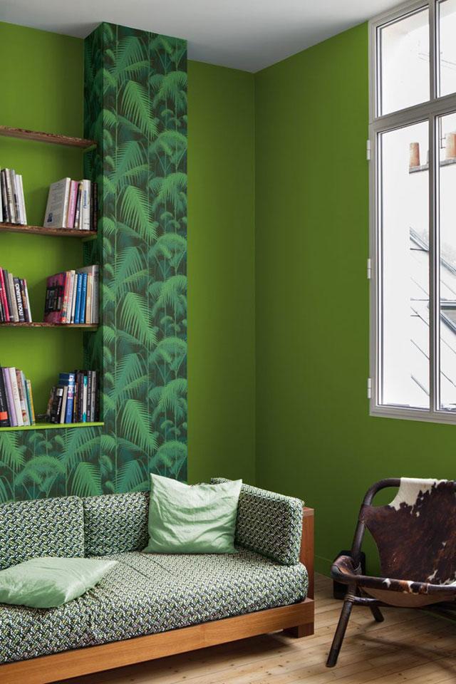 peinture de mur vert greenery