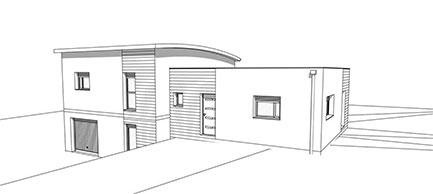 plan d'architecte d'un maison Natilia : Naticéa
