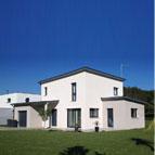 maison bois contemporaine avec toiture bac acier