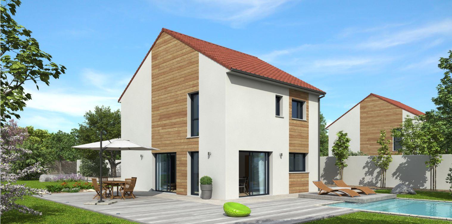 modèle de maison à étage en bois - Natilia