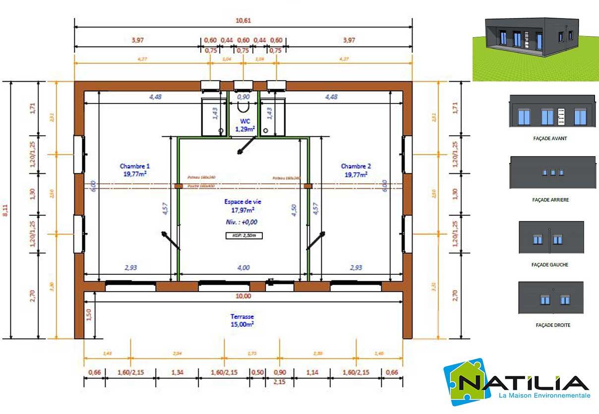 plan de la Natimamba réalisée pour l'émission D&CO par Natilia