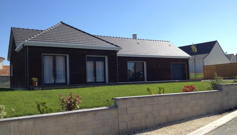 Maison ossature bois plain pied for Construction maison plain pied plan