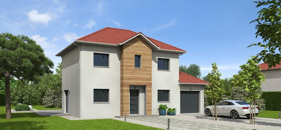 Plan maison bois mod le natiline plates rouge natilia for Tuiles vieillies