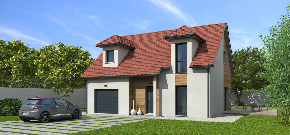 plan maison bois mod le natishen plates rouge natilia. Black Bedroom Furniture Sets. Home Design Ideas