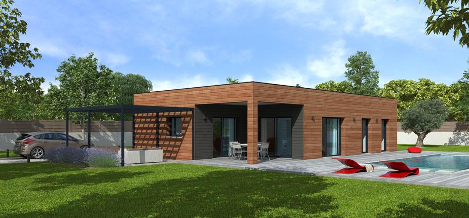 Natisoon toit terrasse mod le de maison en bois natilia - Modele de terrasse couverte ...