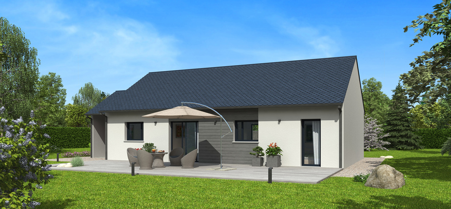 Plan maison bois mod le natibao ardoise natilia for Modele maison natilia