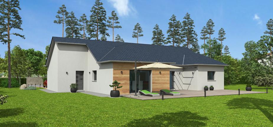 plan maison bois mod le natimo ardoise natilia. Black Bedroom Furniture Sets. Home Design Ideas