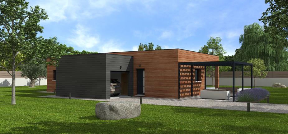 Natisoon toit terrasse mod le de maison en bois natilia for Modele maison toit terrasse
