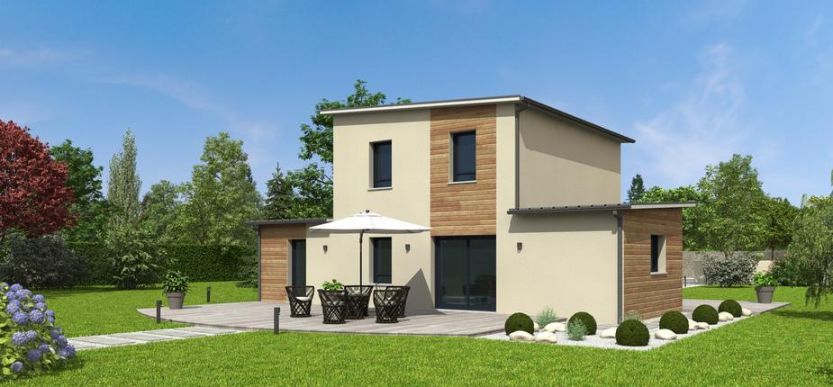 plan maison bois mod le nativa bacacier natilia. Black Bedroom Furniture Sets. Home Design Ideas