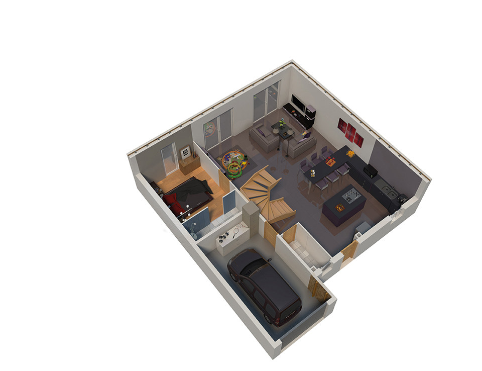 maison ossature bois plan natifae rdc natilia