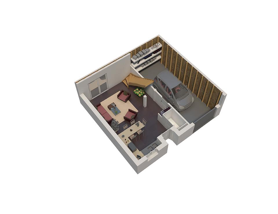 Plan maison bois mod le natiming 4 chambres ardoise natilia - Maison ossature bois natilia ...