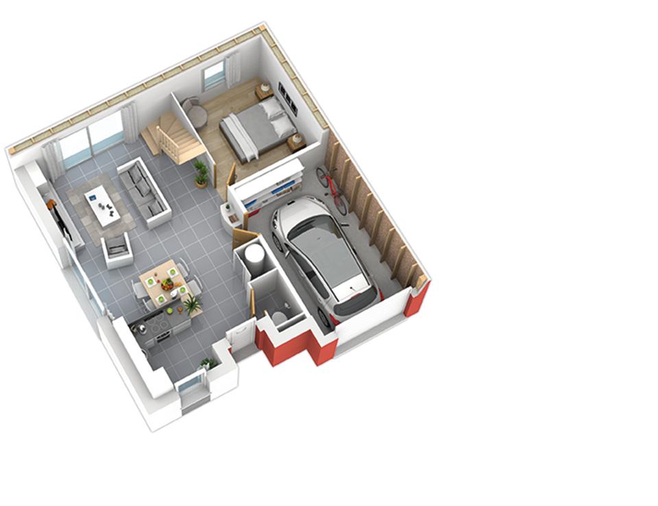 maison ossature bois plan natiming rdc01 3ch natilia 4