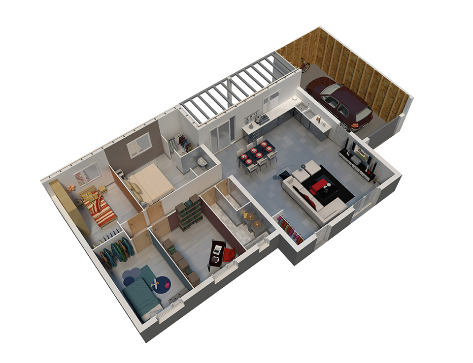 Plan maison bois mod le natitoa bacacier natilia for Modele maison minecraft