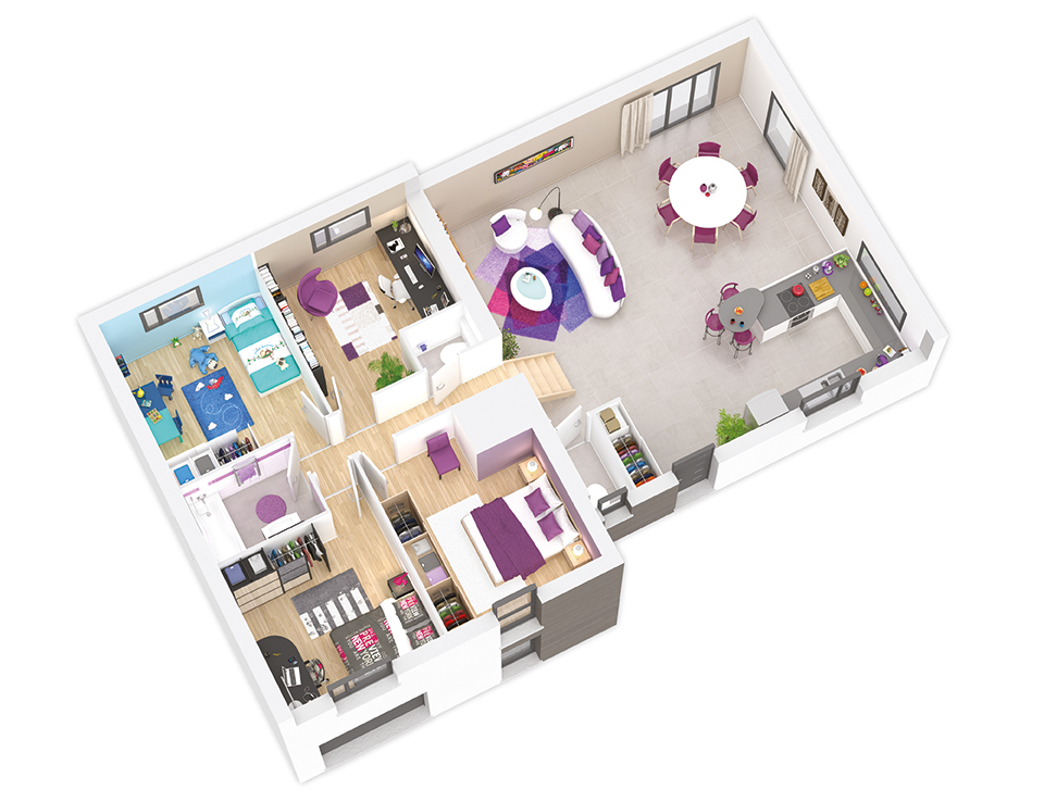 maison ossature bois plan naticea etage natilia 3