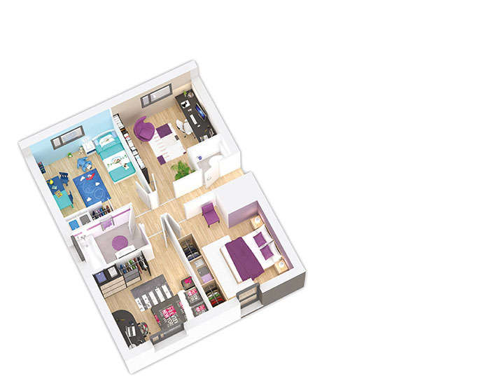 maison ossature bois plan naticea etage 2 natilia 2