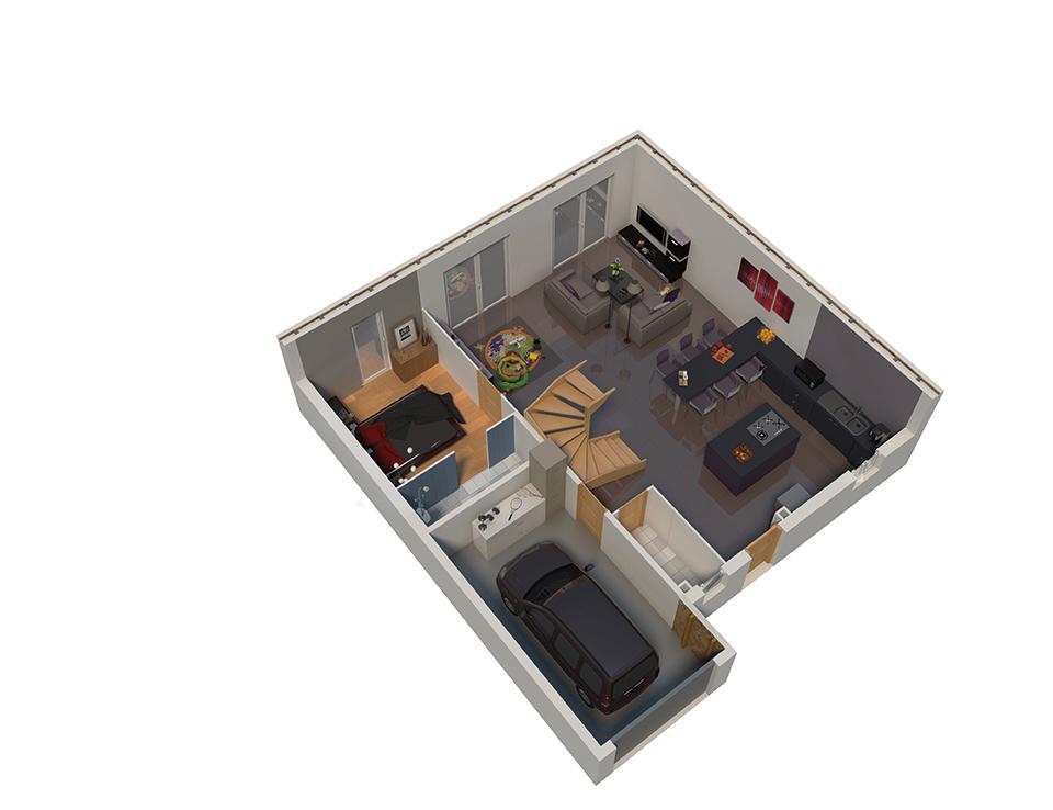 maison ossature bois plan natifae rdc natilia 5