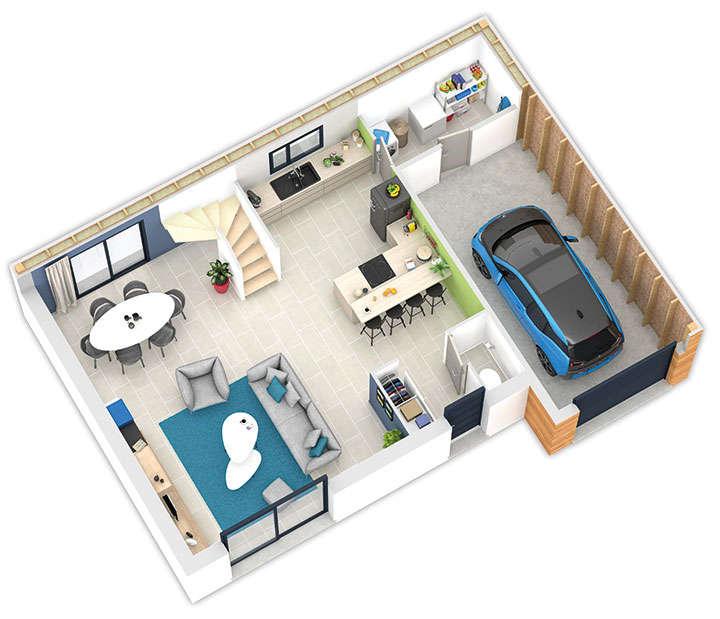 maison ossature bois plan natiline rdc natilia 5