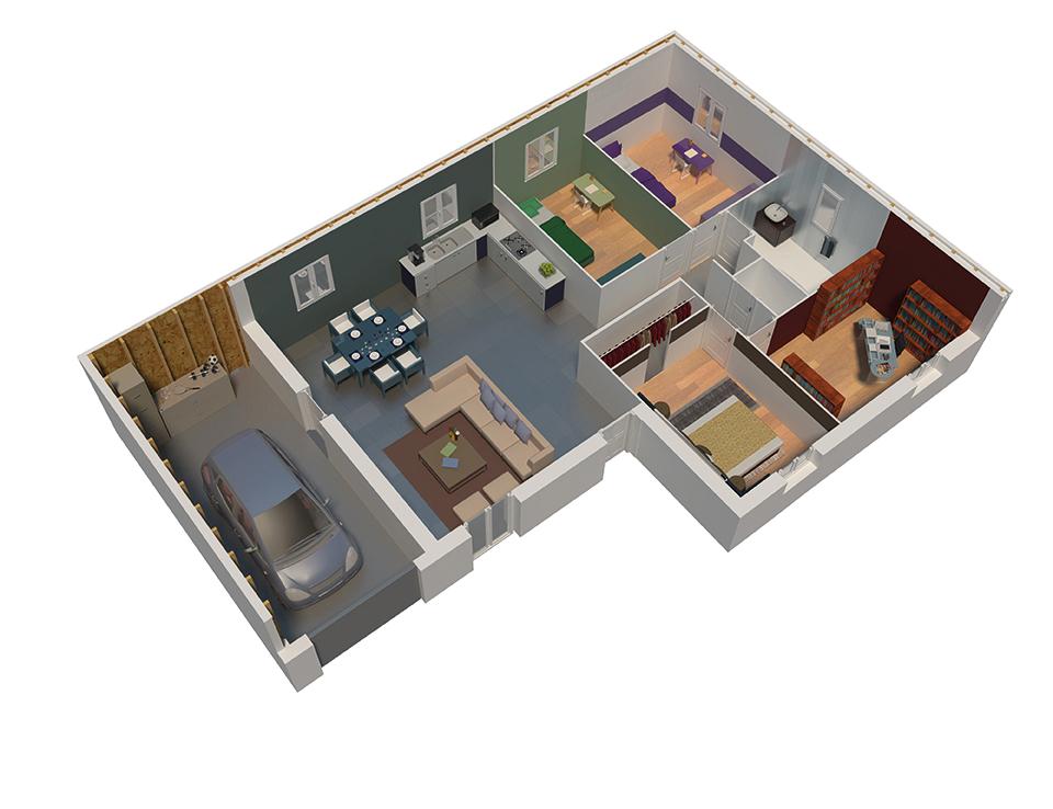 maison ossature bois plan natilys natilia 2