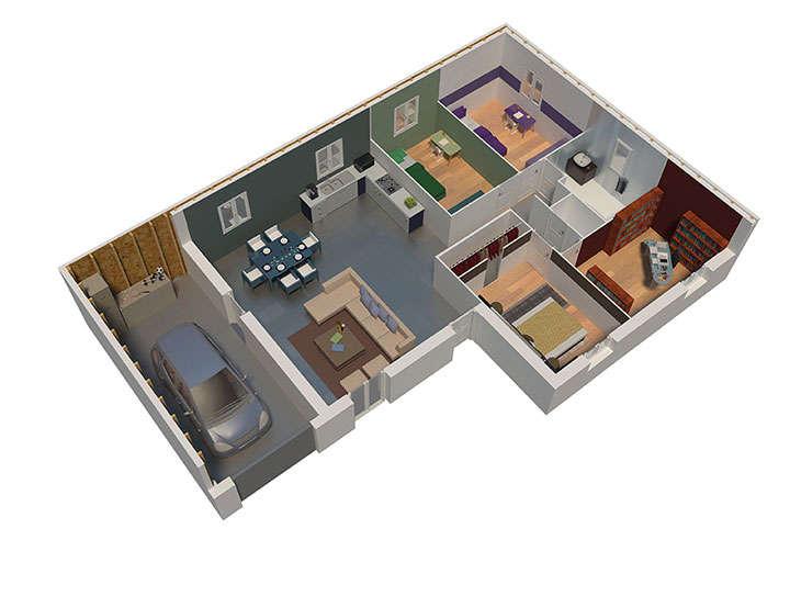 maison ossature bois plan natilys natilia 7