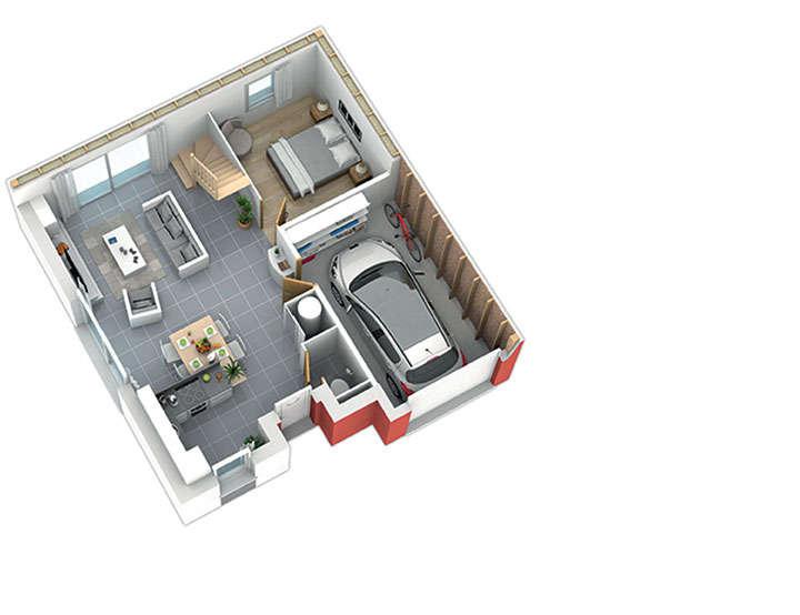 maison ossature bois plan natiming rdc01 3ch natilia 3