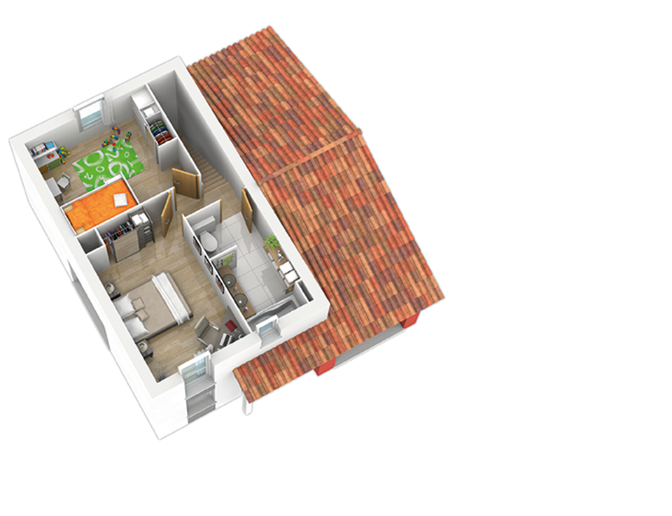 maison ossature bois plan natiming etage01 3ch natilia