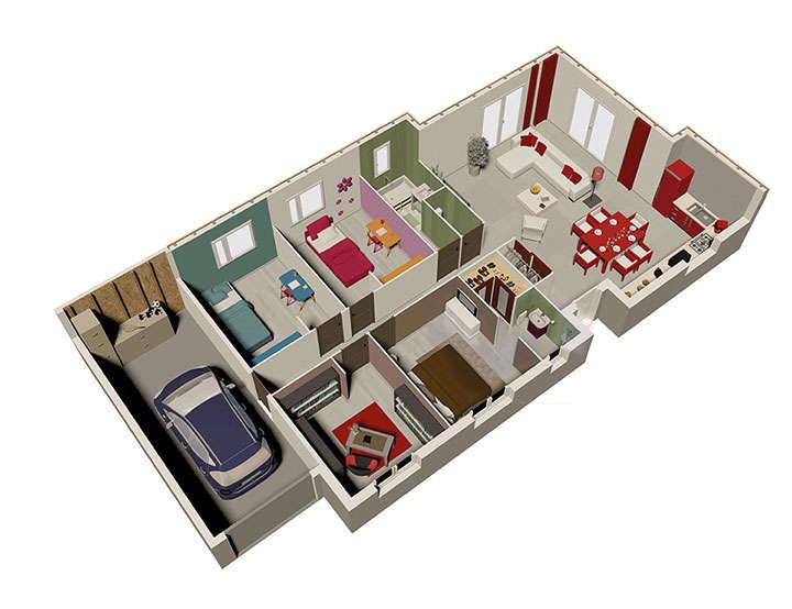 maison ossature bois plan natireo rdc natilia 2