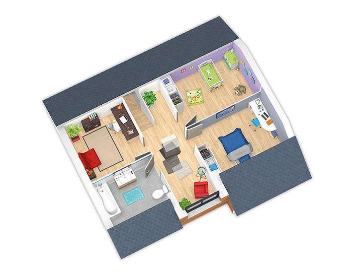 maison ossature bois plan natirey etage hd natilia 1