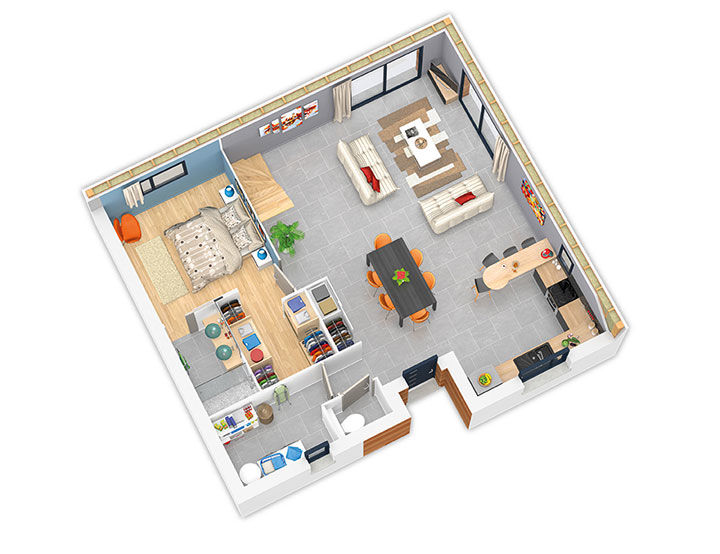 maison ossature bois plan natirey rdc natilia