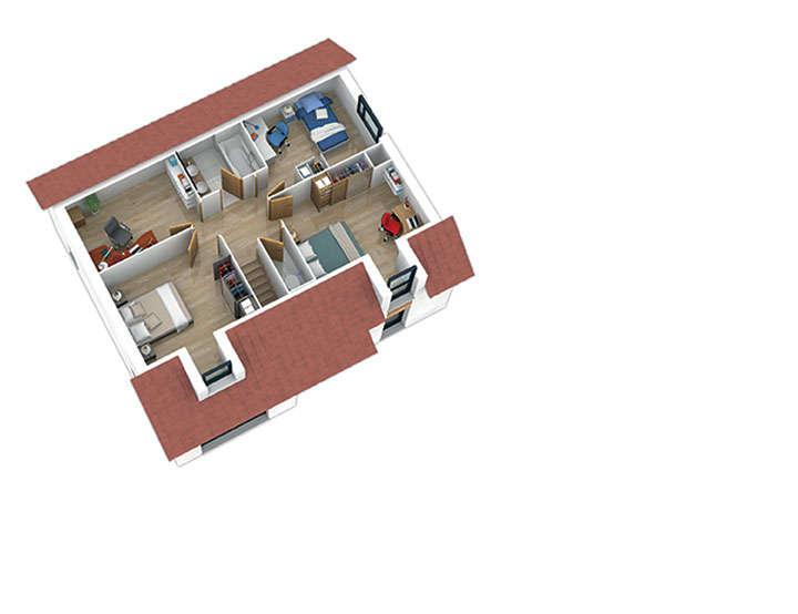maison ossature bois plan natishen plan etage2 natilia