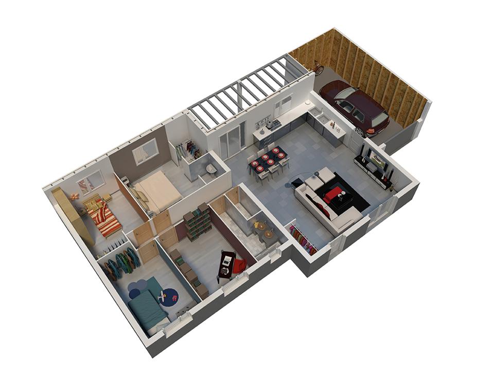 plan maison ossature bois natitoa bacacier version montagne natilia. Black Bedroom Furniture Sets. Home Design Ideas