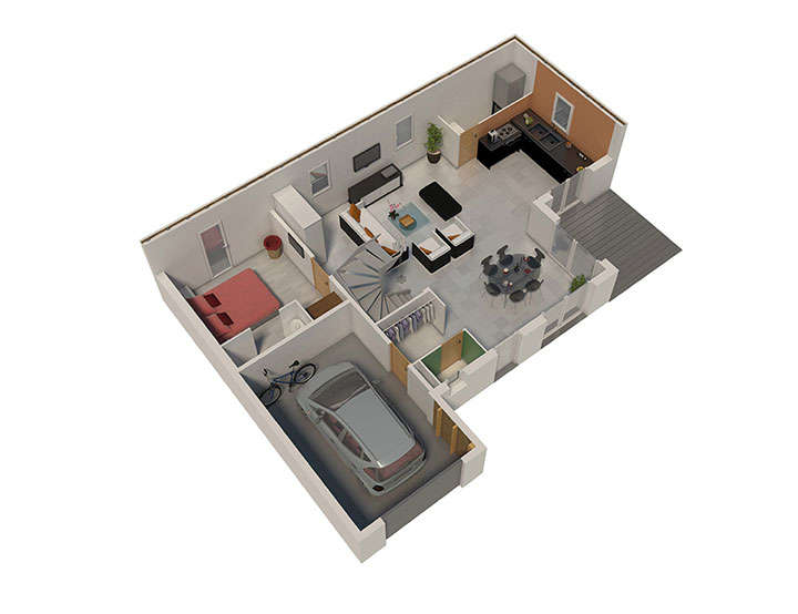 maison ossature bois plan nativae rdc natilia 2