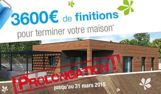 Prolongation de l'offre 3600€ de finitions* !
