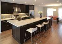 cuisine lot dangle style moderne blanc inox bois noir