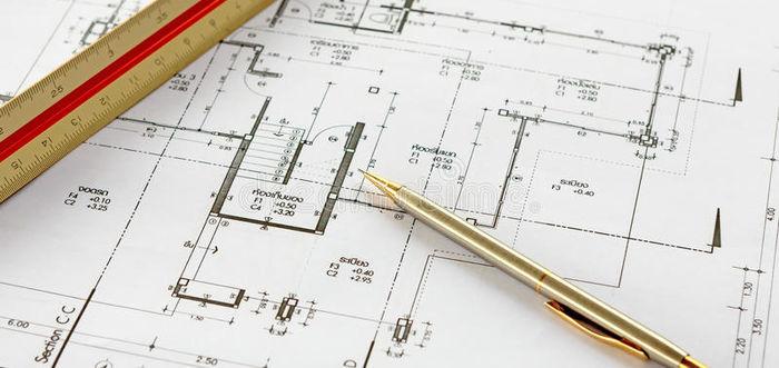 dessins d architecture avec le crayon et la r gle 32822718