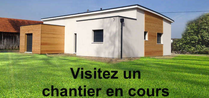 maison ossature bois visite chantier gareoult var